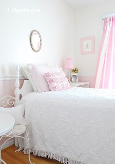 Girl's Room Makeover in Pink and Gold, The Projects   11 Magnolia Lane