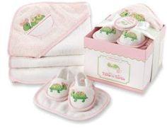 Baby Aspen Tillie the Turtle 4-Piece Bath Time Gift Set #babygirl, #promotion
