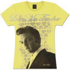 Elvis Tender Hearts Ladies T-Shirt