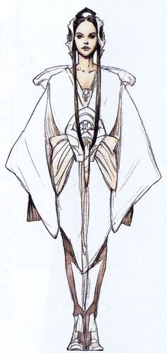 Padme' Amidala Star Wars: Episode II - Attack of the Clones. Flightsuit. http://www.rebelshaven.com/SWFFAQ/images/pilot/pilotconcept2.jpg