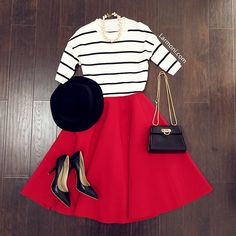 Stripes Short Sleeves Knit Top