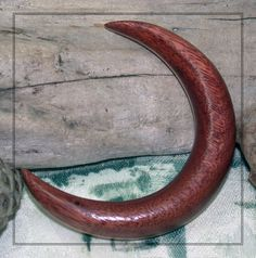 3 inch Bloodwood and Maple Crescent Moonbeam Hair by RavensCroft, $35.00