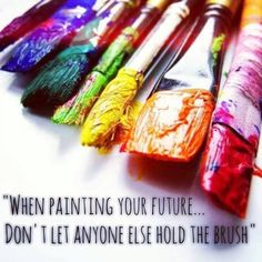 When painting...