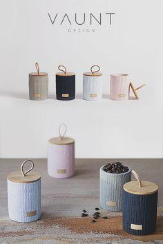 Lint Concrete Storage Jars Set of 4 - Decoration Fireplace Garden art ideas Home accessories Concrete Crafts, Concrete Planters, Fireplace Garden, Coffee Jars, Cement Art, Storage Jars, Contemporary Interior, Kitchenware, Tea Lights