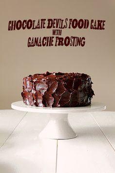 Chocolate Devil's Food Cake with Ganache Frosting Recipe on Yummly. @yummly #recipe