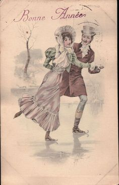 French Ice Skaters  New Years