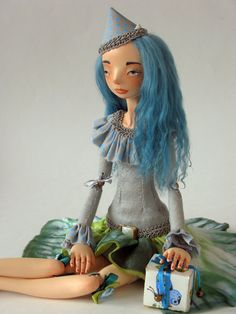 Art doll OOAK Estera by VilmaDollsHouse on Etsy