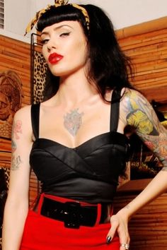 Pinup Couture Black Pinup Top 110 10 14960 1