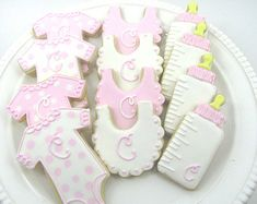 Baby Shower Cookies- Baby GIrl Personalized Cookies-Shower Favors