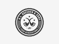 Designspiration — Dribbble - K.L. Breeden & Sons by Ryan Feerer