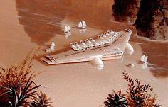 Norman Bel Geddes designed seaplane.