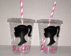 25 Barbie party favors Barbie cups Barbie candy by CraftingHandsNY