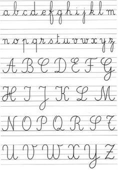 perfect french handwriting