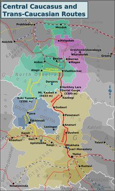 Georgia, Map, Maps, Peta