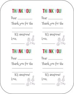 photo regarding Fill in the Blank Thank You Cards Printable called 23 Suitable Printable thank on your own notes photographs in just 2018 Thank yourself