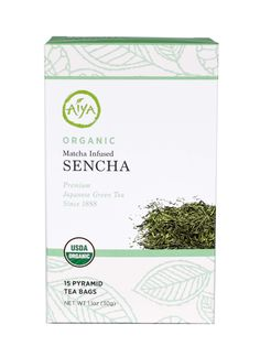 Tea Taster's Line Organic Matcha Infused Sencha. Tea bags with loose leaf sencha, one of the most popular teas in Japan, known for its crisp, grassy freshness. Infused with antioxidant-rich matcha, enjoy this guilt free infusion any time of the day!