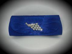 Royal Blue Bridal Clutch Rhinestone Peacock by DESIGNERSHINDIGS, $42.00