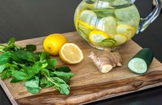 Bevanda acqua limone zenzero cetriolo menta