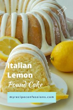 Italian Lemon Pound Cake is the only lemon cake recipe you will ever need! Italian Lemon Pound Cake is the only lemon pound cake you will ever need. The moist texture and rich citrus flavor will have you hooked after just one bite! Lemon Recipes, Baking Recipes, Sweet Recipes, Lemon Pie Recipe, Juice Recipes, Food Cakes, Cupcake Cakes, Carrot Cake Cupcakes, Muffin Cupcake