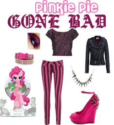Pinkie Pie GONE BAD (My Little Pony Friendship is Magic) Inspired Outfit