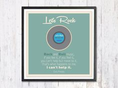 Retro Poster Pop Art Poster 80s record Inspirational by LooveMyArt