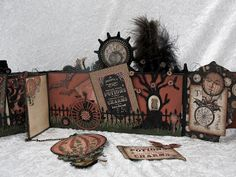 annes papercreations: Steampunk Spells envelope mini album tutorial