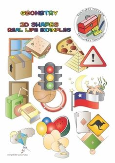 Geometry 2D shapes Real Life Examples Clip Art - 22 PNGs