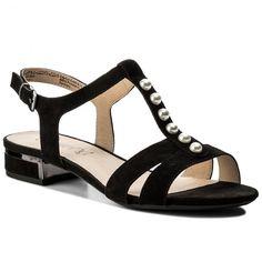 Sandály CAPRICE - 9-28104-20 Black Suede 004 Furla, Black Suede, Sandals, Shoes, Fashion, Moda, Shoes Sandals, Zapatos, Shoes Outlet