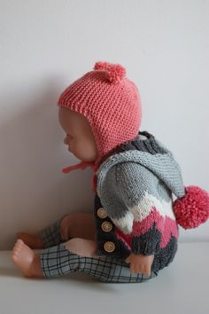 Knitted Hats, Crochet Hats, Disney Animator Doll, Baby Born, Knitting Projects, Doll Clothes, Winter Hats, Dolls, Mini