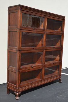 Macey Mahogany Barrister Bookcase Double Section Antique Arts and Crafts RARE!