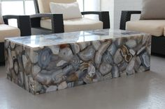 A beautiful Caesarstone Concetto coffee table.  Imagine this piece of art in your home!    www.caesarstone.ca