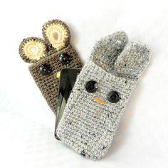 Crochet amigurumi pattern - Ipod Pals - Bunny or bear or owl - Crochet tutorial PDF. $3.95, via Etsy.