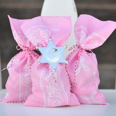 Pink Bandana Favor Sacks