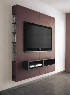Tv Furniture, Furniture Ideas, Tv Wall Panel, Wall Tv, Panel Lcd, Tv Wall Decor, Led Panel, Shelf Wall, Lcd Wall Design