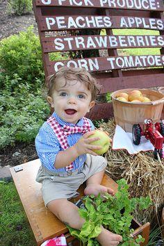 Boys Farmers Market 1st Birthday Set Farm by WillowRayneDesigns