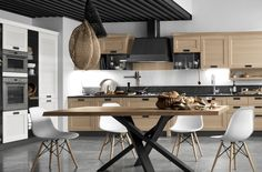 Contemporary Kitchen York design gives natural color and colourfull finishing. It is favorite for cutting edge kitchen. Living Room Furniture, Modern Furniture, Home Furniture, Kitchen Dining, Kitchen Decor, Kitchen Cabinets, Dining Room Sets, Dining Chairs, Dining Table