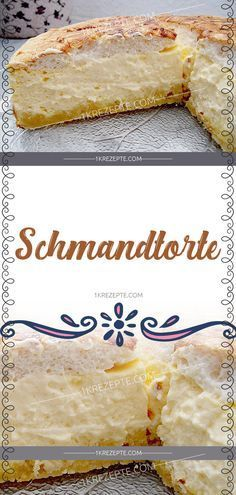 Schmandtorte Ingredients: 200 g flour 65 g butter 1 egg (s) 75 g sugar pack baking powder 500 g quark 1 cup sour cream 150 g sugar 1 pack vanilla sugar 3 egg (s), separately 1 pack pudding Easy Cheesecake Recipes, Easy Cookie Recipes, Snack Recipes, Snacks, Simple Recipes, Grilling Recipes, Drink Recipes, Food Cakes, Cake Mix Cookies