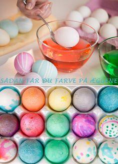 5 gode tips til farvning af påskeæggene Easter Eggs, Sange, Creative, Bedding, How To Make, Gifts, Gift Ideas, Easter, Presents