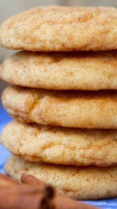 Cake Mix Snickerdoodles ~ You are only 6 ingredients away from these perfect snickerdoodles! They really are just so easy and delicious
