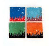Philadelphia Skyline Sports Stone Coasters (Set of 4)
