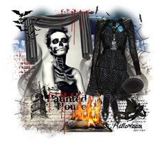 """""""HALLOWEEN"""" by miss-image ❤ liked on Polyvore featuring art"""