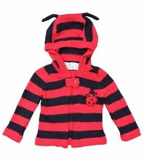 Toto Knits Organic Cotton Hand-knit Sweater - LADYBUG Animal Sweater, Baby Ladybug, Hand Knitted Sweaters, Sweater Making, Hand Knitting, Organic Cotton, Hoodies, Baby Things, Knits