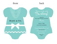 Customized Breakfast at Tiffanys Baby Shower by DarlinglovesDapper, $12.00