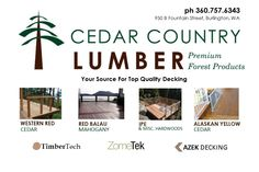 Your choice for top quality decking in Western Red Cedar, Mahogany, Ipe, Alaskan Yellow Cedar, TimberTech, Zometek and Azek