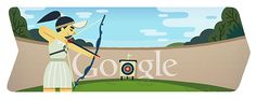 of July is time for the second Olympics Doodle: London 2012 Archery. Archery belongs since 1972 to the Olympic Games. Google Doodles, Doodle 4 Google, London Olympic Logo, London Olympic Games, Logo Google, Art Google, Archery, Olympia, Sleep