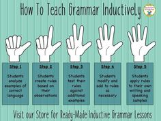 How to teach grammar inductively