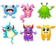 Halloween monster set collection Stock Images