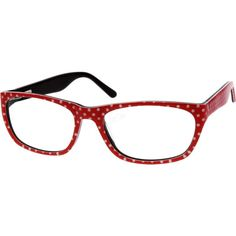 Fun Polka Dots from #Zenni Optical This full-rim women's frame is made from acetate and comes with spring hinges. Note: The colors are randomly selected and the actual one shipped may vary slightly from the one shown on the model.