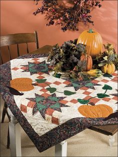Quilting - Holiday & Seasonal Patterns - Halloween Patterns - Pumpkin Patch Visitors