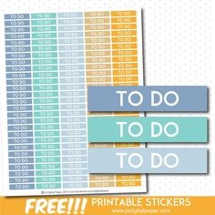 FREE planner TO DO stickers, STI-858